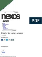 El Dolor Del Viajero Urbano - Claudia Altamirano