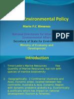 Mario Ximenes' 2009 Presentation on Marine Environmental Policy