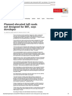Planned Elevated Toll Roads Not Designed for BRT, Says Developer_November 22, 2012_The Jakarta Post