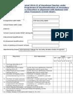 Appraisal Form Format for VTP