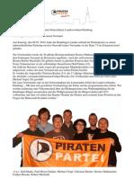 07.02.2010 Pressemitteilung Der Piratenpartei Deutschland, Landesverband Hamburg.