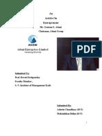 An Article On Entrepreneur Mr. Gautam S. Adani  Chairman, Adani Group