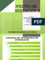 Diapositivas Proyecto de Investigación II 16 de Septiembre 2014