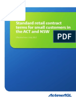 Standard Retail Contract ACT NSW 2013