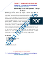 Fault Current Interruption by the Dynamic Voltage Restorer