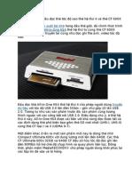 Kingston Ra Mắt Đầu Đọc Thẻ Tốc Độ Cao Thế Hệ Thứ 4 Và Thẻ CF 600X 64GB