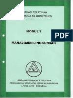Modul 7. Manajemen Lingkungan