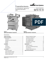 Substation Transformers - Ops. & Maint. Instructions - Cooper Power Systems