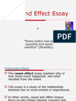 Cause and Effect Notes