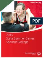 2015 SSG Sponsor Package