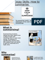How to Summarise - Final