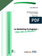 mémoire marketing ecologique