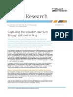 Options - Capturing the Volatility Premium Through Call Overwriting