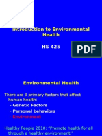 Intro to Environmental Health