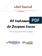 El Testamento de Lacan