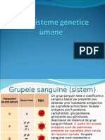 LP 8 Sisteme Genetice Umane