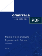 Mobile Voice and Data Experience in Estonia Omnitele Summary Report 0
