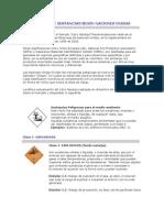Clasificación de Sustancias Según Naciones Unidas