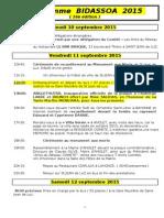 Programme BIDASSOA 2015 v4