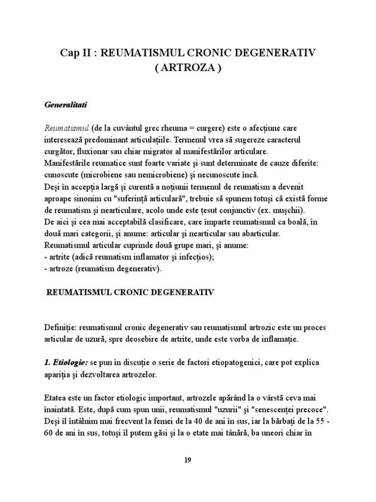 Tratament de nișă pentru artroză. Coxartroza