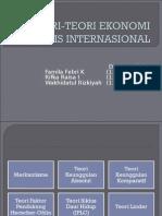 Teori-teori Ekonomi Bisnis Internasional