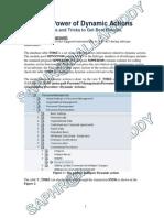 Dynamic Actions - Multiple Scenarios