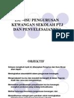 Isu & Penyelesaian Pengurusan Kewangan Sekolah PTJ
