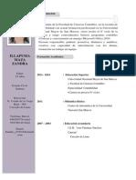 Cv Zandra Formacion Académica