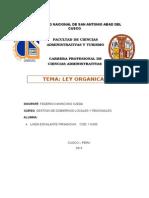 Ley Organicac de Municipalidades Resumen
