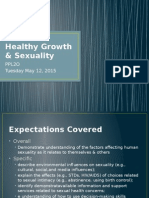healthy growth & sexuality