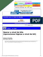 Operar a Nivel de Bits (Operaciones Lógicas a Nivel de Bit)