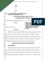 Melendres # 1092 | MELENDRES v ARPAIO - D.ariz._2-07-Cv-02513_1092_Objection to Expansion of Plaintiff Class
