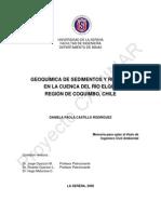 Geoquimica de Sedimentos y Relaves