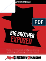 Report on Harassment of Activists by Intelligence Agencies in South Africa