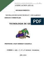 Planificacion de Tecnologias de Gestion 2009