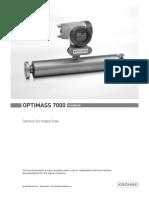 Slurry Density Meter Optimass 7000 Manual