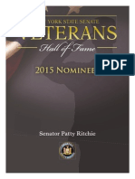 Senate Patty Ritchie 2015 Veterans Hall of Fame Nominees