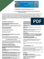 Warsaw News Sheet and Readings 17th May 2015