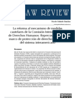 La reforma al mecanismo de medidas cautelares de la CIDH
