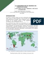 Fuentes geog+®nicas de contaminaci+¦n con ars+®nico de aguas naturales en la Argentina - informe