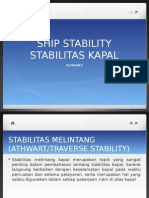 Stabilitas kapal - ship stability analysis.