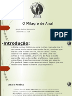 O Milagre de Ana - Pregacao Samuel Oliveira
