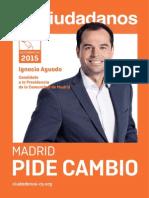 Programa Autonómico de Ciudadanos Madrid 2015