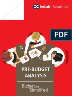 Pre Budget Analysis Feb 2015