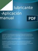 grasa lubricante aplicacion manual