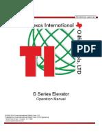 TI Manual G Series Elevator