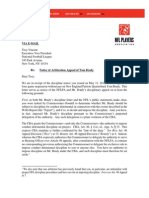 Tom Brady Appeal Letter
