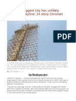 Pakistan's Biggest City Has Unlikely Addition to Skyline 14-Story Christian Cross