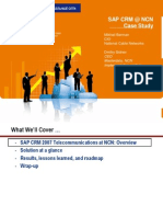 SAP CRM @NCNCase Studycn-hkc