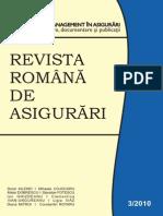 Revista Romana de Asigurari an 2010 Nr.3